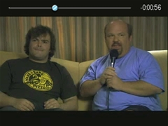 DivXPlayer showing Tenacious D trailer - gersbo.dk